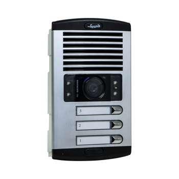 پنل آیفون تصویری الکتروپیک مدل 1086 سه واحدی با دوربین چرخشی